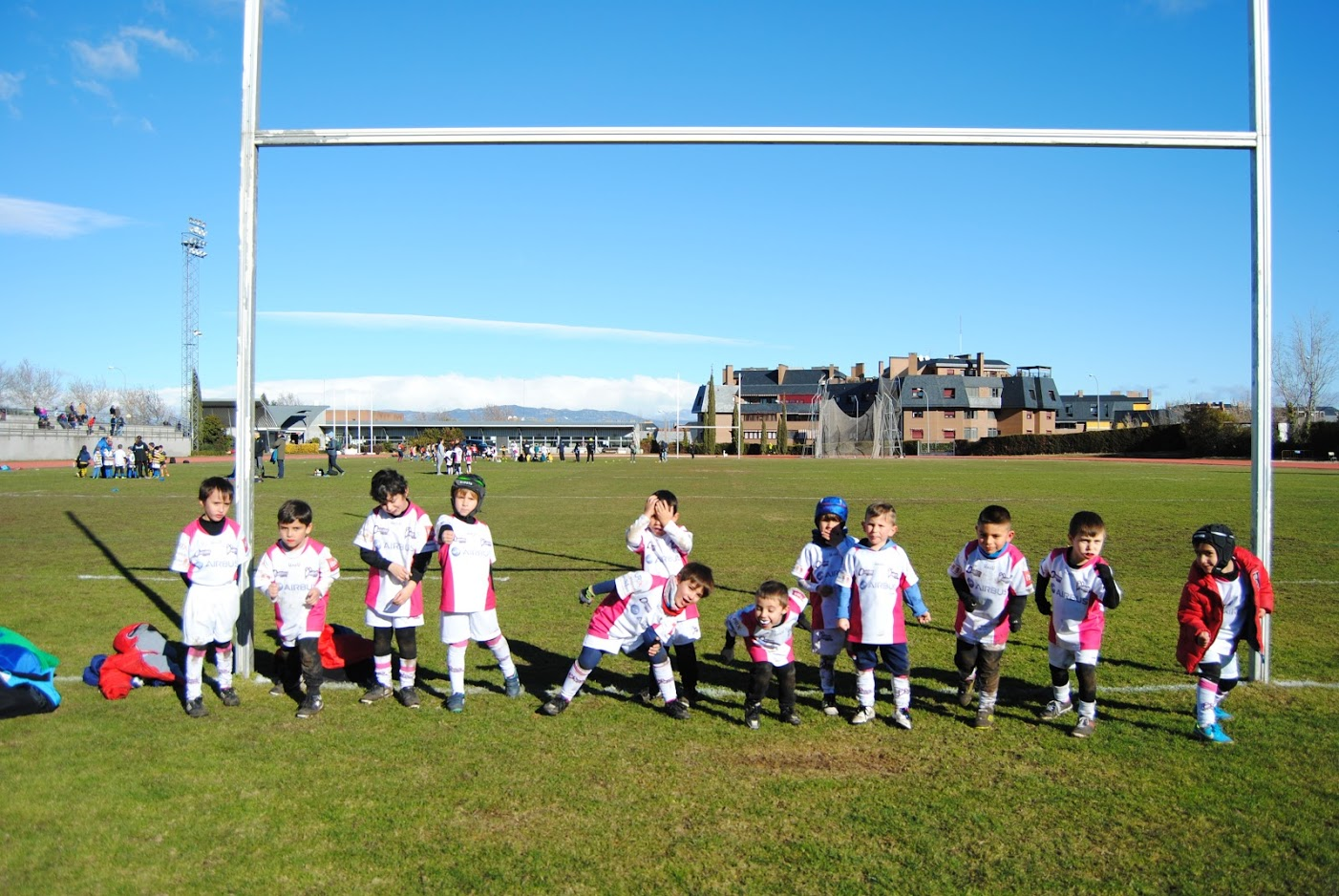 Los Quijotes, en el Festival de Rugby Infantil en Majadahonda