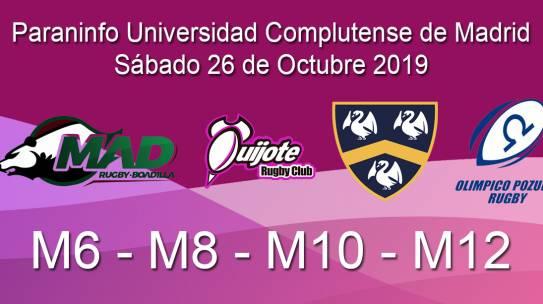 Jornada de las escuelas de rugby en Madrid