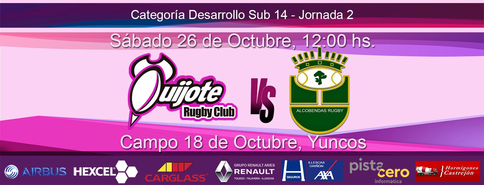 Sub 14 – Quijote R.C. vs Alcobendas Rugby (26-10-19)