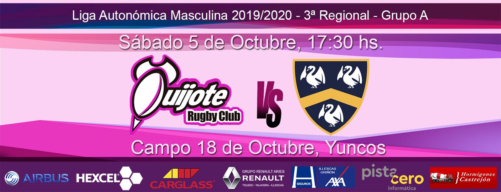 Quijote Rugby Club vs Complutense Cisneros IV (5-10-19)