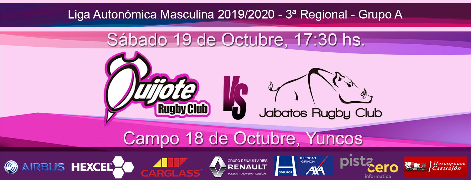 Quijote RC vs Jabatos Móstoles RC (19-10-19)