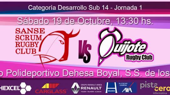 Sub 14 – Sanse Scrum B vs Quijote RC (19-10-19)