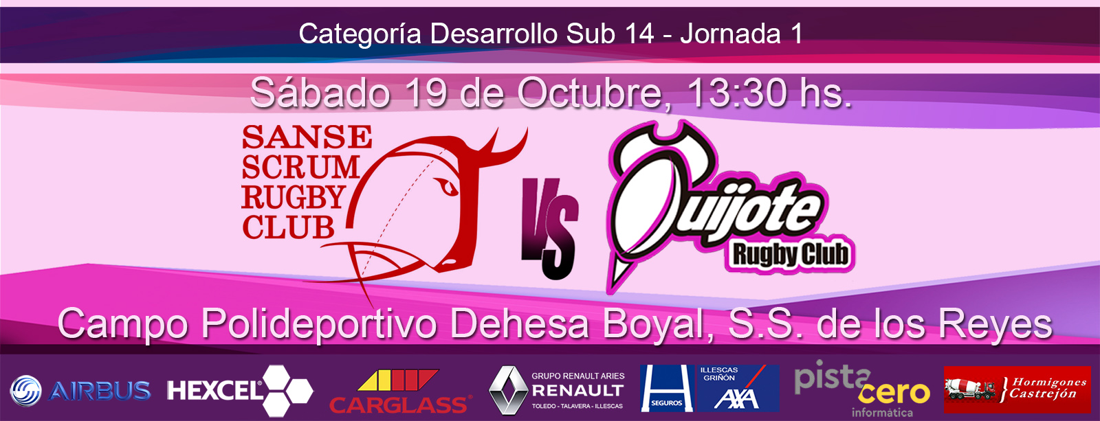 Sub 14 – Sanse Scrum B vs Quijote RC (19-10-19)
