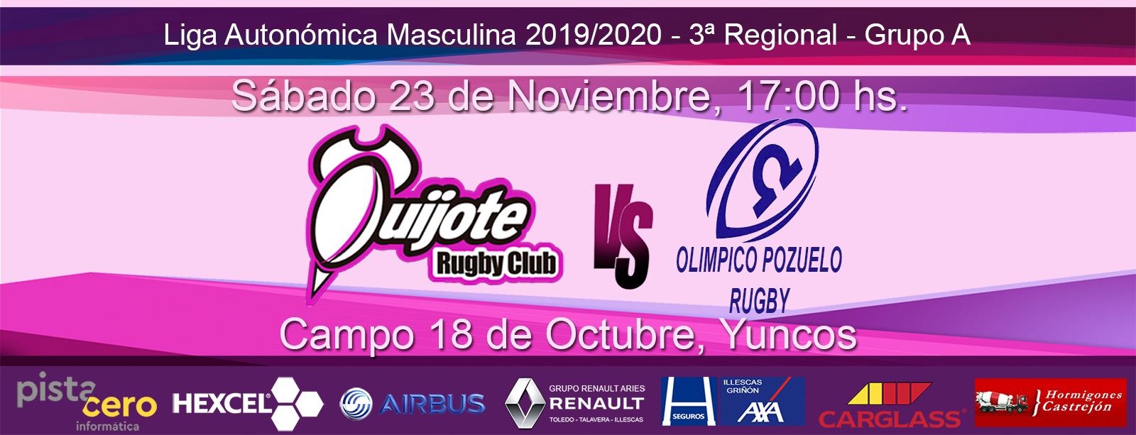 Quijote RC vs Olímpico de Pozuelo C (23-11-2019)