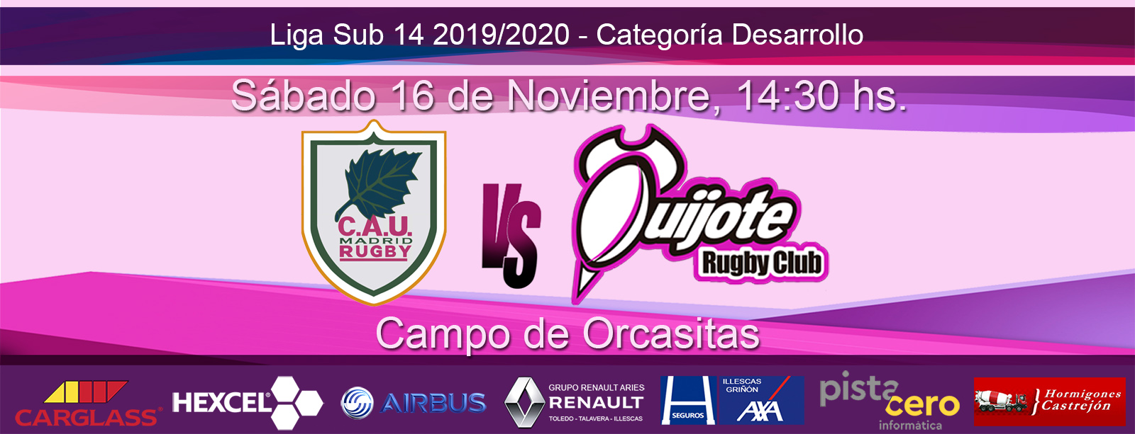 Sub 14 – CAU Madrid RC vs Quijote Rugby Club