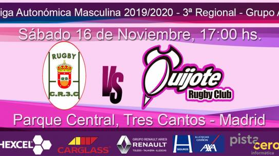 Club de Rugby Tres Cantos vs Quijote Rugby Club (16-11-2019)