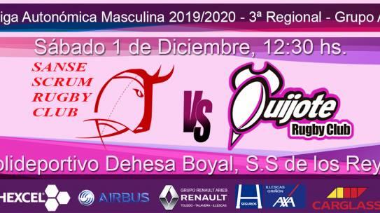 Sanse Scrum B vs Quijote RC (1-12-2019)