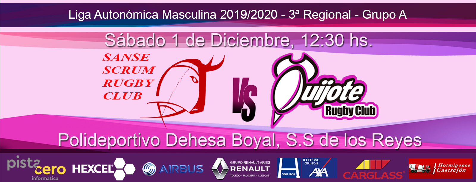 Sanse Scrum B vs Quijote RC (1-12-2019)