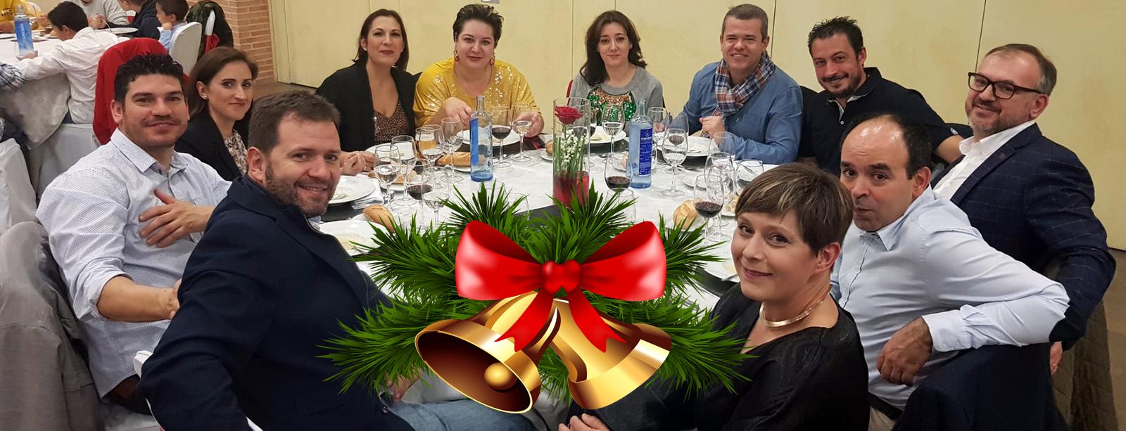La familia del Quijote RC en la cena de Navidad 2019