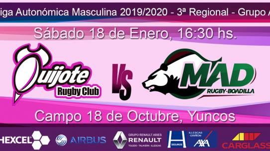Quijote RC vs MAD Rugby Boadilla B (18-1-20)