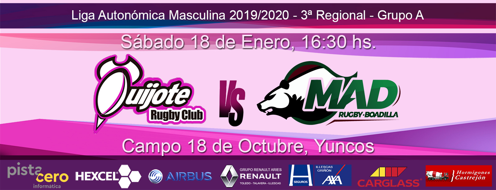 Quijote RC vs MAD Rugby Boadilla B (18-1-20)