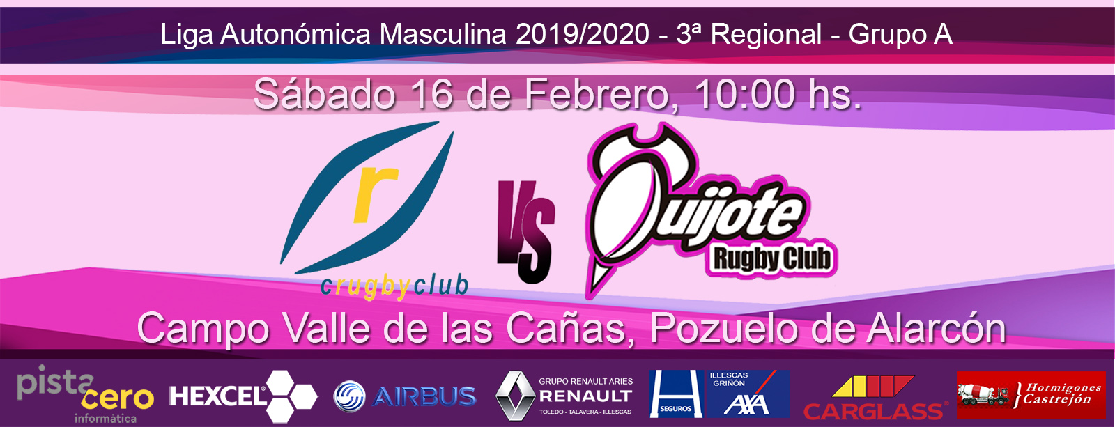 CRC Pozuelo vs. Quijote Rugby Club (16-02-20)