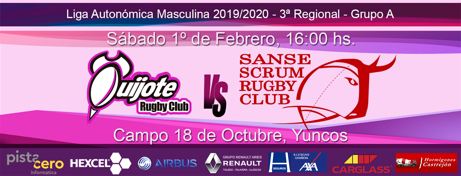 Quijote RC vs Sanse Scrum B (1-02-20)