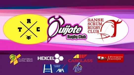Triangular amistoso: Torrelodones Rugby Club, Sanse Scrum y Quijote RC en el Campo Antonio Martín