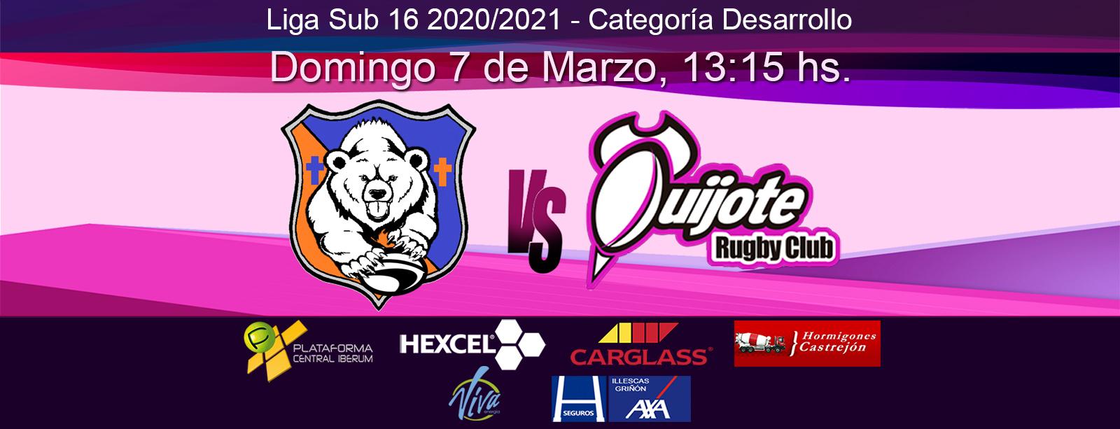 Sub16: Osos del Pardo vs Quijote RC (07/03/2021)
