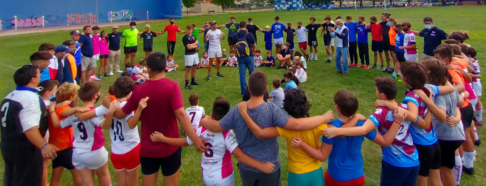Concentración de escuelas del club en Yuncos